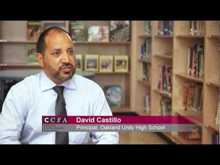 "David Castillo: ""90% of our students will be the first in their family to go to college"""